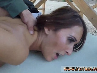 Lesbian police squirt Brunette gets pulled over for a cavity search