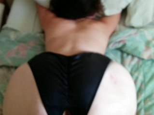 Hard doggystyle homemade in panties