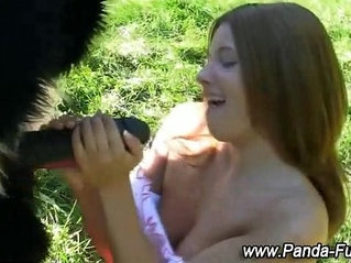 Panda toy and teen fake facial
