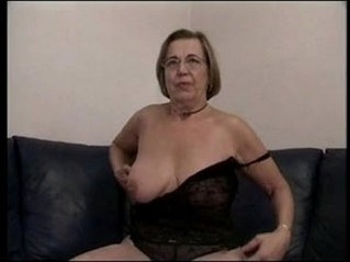 German Mature Dildo Masturbation and Cumshot
