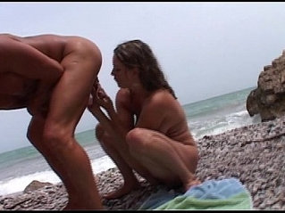 Hot young chuby busty french teen fucking with pervert guy on a nudist beach