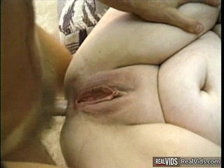 Fat hussy joins interracial threesome