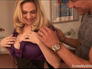 Pretty Blonde Housewife Swinger Sex
